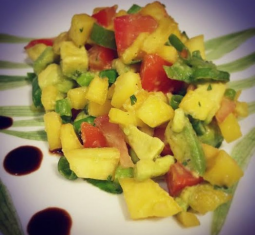 Kid Friendly Peach Salsa